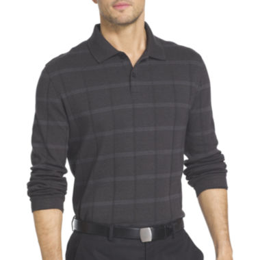 jcpenney.com | Van Heusen Long Sleeve Solid Polo Shirt