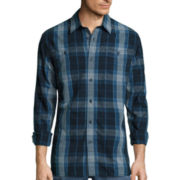 St. John's Bay® Long-Sleeve Plaid Chambray Sport Shirt