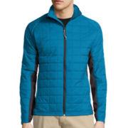 St. John's Bay® Long-Sleeve Terra Tek Hybrid Puffer Jacket