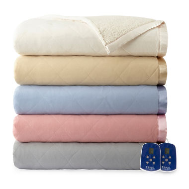 jcpenney.com | Micro Flannel Reverses to Sherpa Heated Blanket