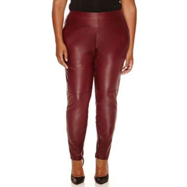 jcpenney.com | a.n.a® Allover Pleather Leggings