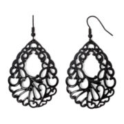 Mixit™ Black Cutout Filigree Teardrop Earrings