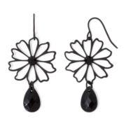 Mixit™ Black Filigree Flower Drop Earrings