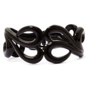 Mixit™ Black Scroll Hinged Bangle Bracelet