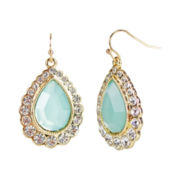 love struck™ Gold-Tone Mint Green Teardrop Earrings