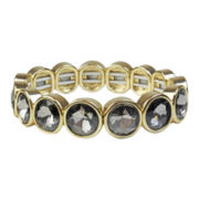 love struck™ Gold-Tone Gray Stretch Bracelet