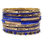 Aris by Treska Gold-Tone Blue 12-pc. Bangle Set