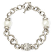 Aris by Treska Simulated Pearl Toggle Bracelet