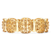 Monet® Topaz-Colored Gold-Tone Stretch Bracelet