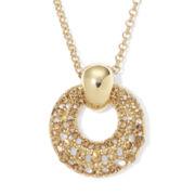 Monet® Topaz-Colored Gold-Tone Pendant Necklace