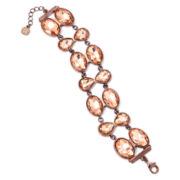 Monet® Peach Stone Bronze-Tone Flex Bracelet
