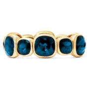 Monet® Teal Stone Gold-Tone Stretch Bracelet