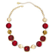 Monet® Red Stone Gold-Tone Collar Necklace