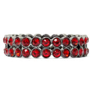Liz Claiborne® Hematite Red Stretch Bracelet