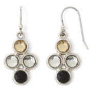 Liz Claiborne Neutral Stone Multi Drop Earrings