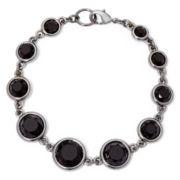 Liz Claiborne® Black Stone Flex Bracelet