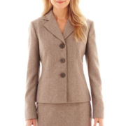 Black Label by Evan-Picone Twill Skirt Suit