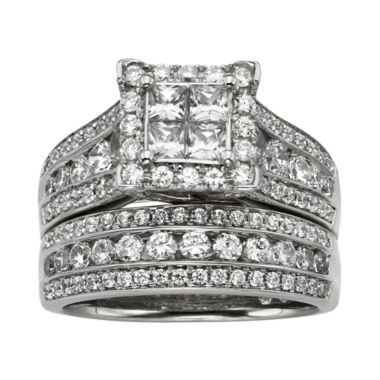 jcpenney.com | 2 CT. T.W. Diamond Bridal Ring Set
