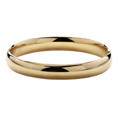 jcpenney.com | Infinite Gold™ 14K Yellow Gold Polished Hollow Bangle