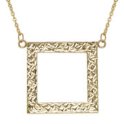 Infinite Gold™ 14K Yellow Gold Open Square Necklace