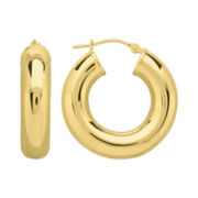 Infinite Gold™ 14K Yellow Gold Polished Hoop Earrings