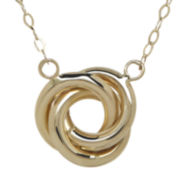 Infinite Gold™ 14K Yellow Gold Love Knot Necklace