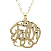 Infinite Gold™ 14K Yellow Gold Faith Pendant Necklace