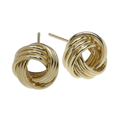 jcpenney.com | Infinite Gold™ 14K Yellow Gold Love Knot Stud Earrings