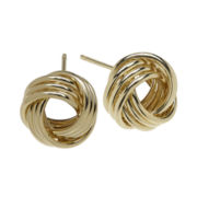 Infinite Gold™ 14K Yellow Gold Love Knot Stud Earrings