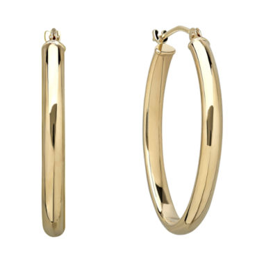 jcpenney.com | Infinite Gold™ 14K Yellow Gold Polished Hoop Earrings