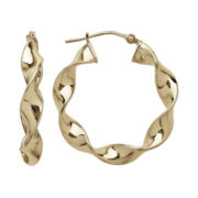 Infinite Gold™ 14K Yellow Gold Polished Wavy Hoop Earrings