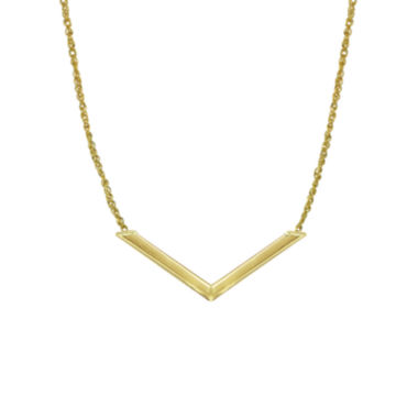 jcpenney.com | 14K Yellow Gold Chevron Necklace