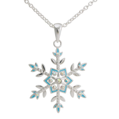 jcpenney.com | Disney Frozen Crystal Silver-Plated Snowflake Pendant Necklace