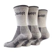 Jeep® 3-pk. Luxury Boot Socks