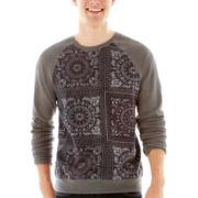 Bandana-Print Fleece Sweatshirt