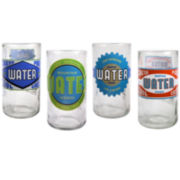 Upcycle Set of 4 Spring Water Highball Glasses