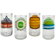Upcycle Fun in the Sun Set of 4 Highball Glasses