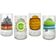 Upcycle Set of 4 Juice Glasses