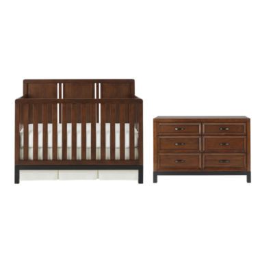 jcpenney.com | Bedford Baby Uptown 2-pc. Furniture Set - Walnut