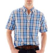 St. John's Bay® Madras Plaid Shirt