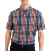 St. John's Bay® Madras Plaid Shirt