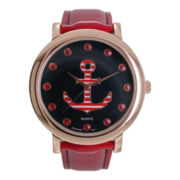 Womens Nautical-Themed Strap Watch