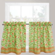 Park B. Smith Boutique Flowers Rod-Pocket Window Tiers
