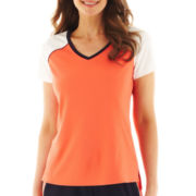 Made For Life™ Short-Sleeve Colorblock Mesh Tee