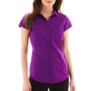 Worthington® Essential Short-Sleeve Shirt - Petite