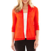 Worthington® Open-Stitch Flyaway Cardigan Sweater - Petite
