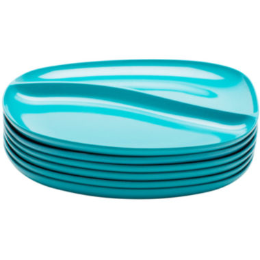 jcpenney.com | Zak Designs® Moso Set of 6 Divided Plates