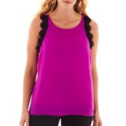 Worthington® Lace-Trim Shell - Plus
