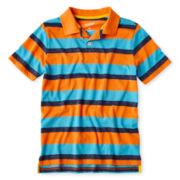 Arizona Short-Sleeve Striped Polo - Boys 6-18 and Husky