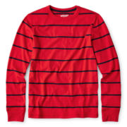 Arizona Long-Sleeve Striped Knit Gym Tee – Boys 6-18